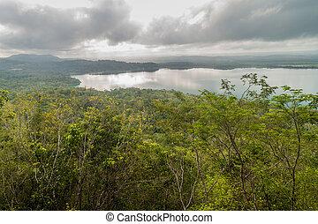 peten, itza, 호수, guatema