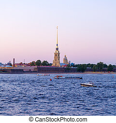 Peter and Paul Fortress and Neva River, Saint Petersburg