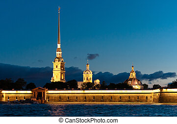 Peter and Paul fortress horizontal view