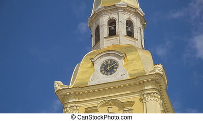 Peter and Paul Fortress tower clock timelapse