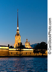 Peter and Paul fortress vertical view