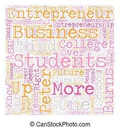 peter burns entrepreneurship 1 text background wordcloud concept
