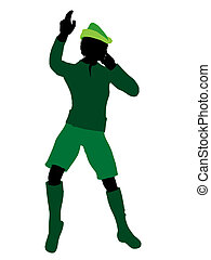 Peter Pan Silhouette Illustration - Peter Pan illustration...