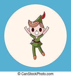 Peter Pan theme elements