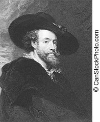 Peter Paul Rubens (1577-1640) on engraving from the 1800s....