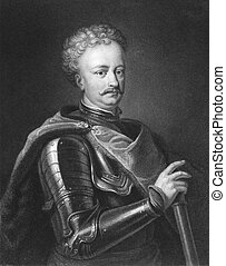Peter the Great (1672-1725) on engraving from the 1800s....