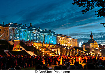 Petergof palace in Russia
