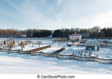 peterhof, parc, horaire hiver