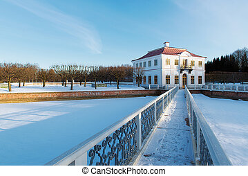 Peterhof Park in the winter time. Russia
