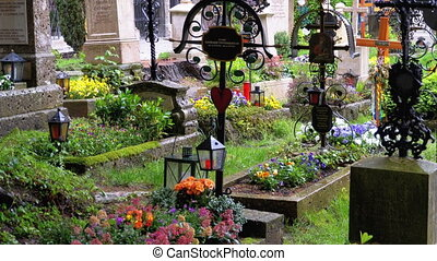 Peter's Cemetery, Old town Salzburg. St. Peter's Cemetery,...