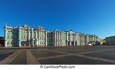 Petersburg,  ST, Inverno, Palácio, vista