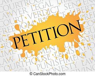 petición, palabra, nube