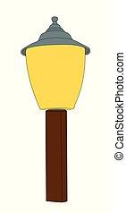 petit, éclairage public, vecteur, illustration