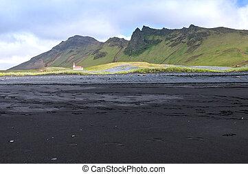 petit, église, islande