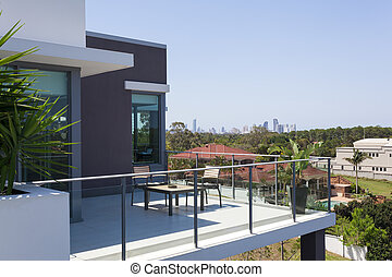 petit, balcon