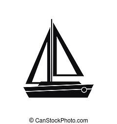 petit ic ne style bateau simple style simple symbole illustration de stock. Black Bedroom Furniture Sets. Home Design Ideas