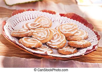 petit, bonbons, gâteaux, -, portugais