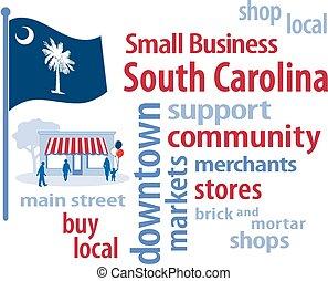 petit, caroline, drapeau, business, sud