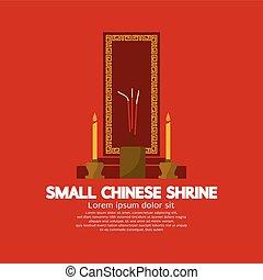 petit, chinois, sanctuaire, illustration, vecteur