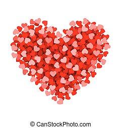 petit, coeur, fait, rouges