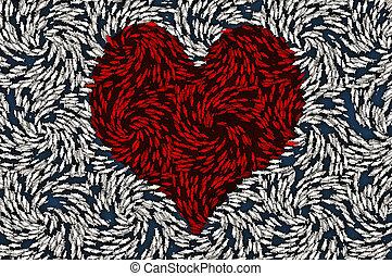 petit, coeur, symbole, fish