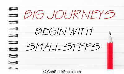 petit, commencer, grand, étapes, voyages