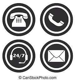 petit, communication, ensemble, signes