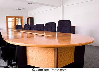 petit, constitué, salle réunion