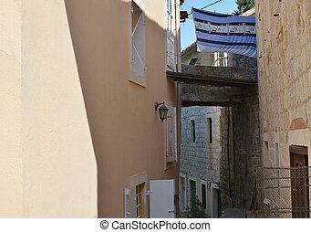 petit, couloir, côtier, village