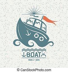 petit, courageux, bateau