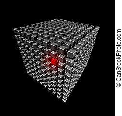 petit, cube, fait, cubes