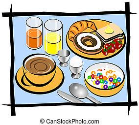 petit déjeuner, complet