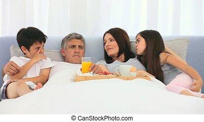petit déjeuner, famille