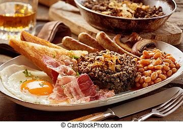 petit déjeuner, haggis, savoureux, écossais