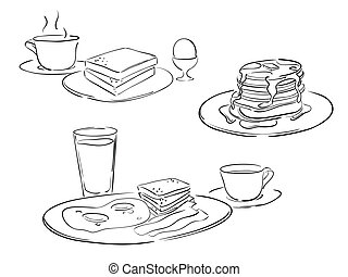 Clip Art Et Illustrations De Petit Déjeuner 215 698 Dessins