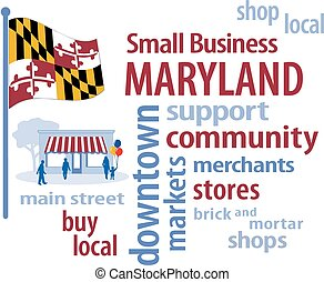 petit, drapeau, maryland, business
