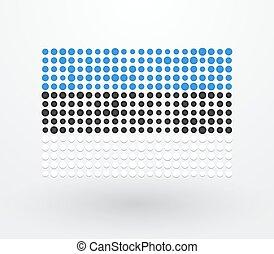petit, drapeau, réconcilié, estonie