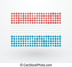 petit, drapeau, réconcilié, luxembourg
