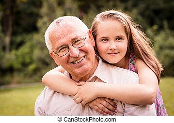 petit-enfant, grand-père