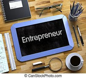 petit, entrepreneur, concept., 3d., tableau