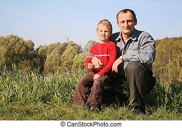 petit-fils, grand-père