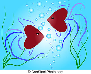 petit, fishes-hearts