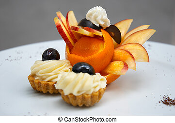petit four 2 - petit four served on plate with original...