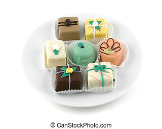 Petit fours - A plate of petit fours