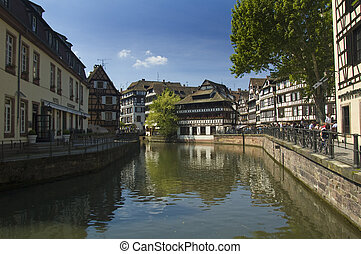 Petit France, Strasbourg - view of the Petit France...