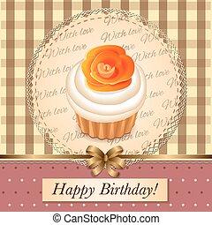 petit gâteau, carte anniversaire