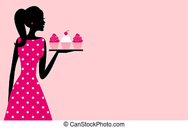 petit gâteau, girl