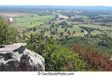 Petit Jean Park Mountain View - A view from atop Petit Jean ...