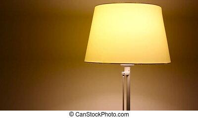 petit, lampe, chevet, jaune, danse