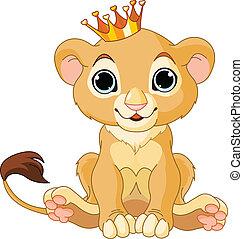 petit, lion, roi